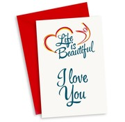 "Miko Life is beautiful kaart""I love you"""