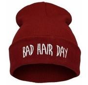 "Joni's Winkel Muts ""Bad hair day"" rood - Beanie ""Bad hair day"" red"