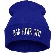 "Joni's Winkel Muts ""Bad hair day"" blauw - Beanie ""Bad hair day"" Blue"