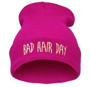 "Joni's Winkel Muts ""Bad hair day"" roze - Beanie ""Bad hair day"" Pink"