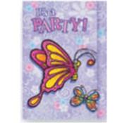 Folat Uitnodiging paarse vlinder 8 stuks