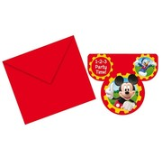 Disney Uitnodiging Mickey mouse clubhouse 6 stuks