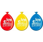 Folat Ballonnen Zigby 8 stuks 30 cm