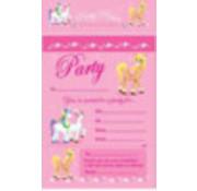 Uitnodiging Ponies 20 stuks