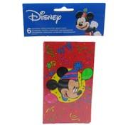 Disney 6 Disney Mickey uitnodigingen