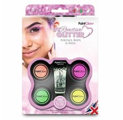 PaintGlow PaintGlow UV  glitter set face, body & nails