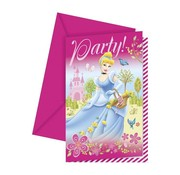 Disney Uitnodigingen Disney's Princess Party 6 stuks
