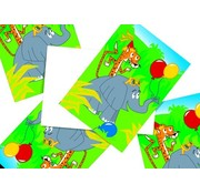 Haza Original Jungle uitnodigingen 6 stuks