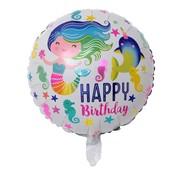 Joni's Winkel Folieballon Zeemeermin rond 45 cm