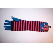 Apollo Vingerloze handschoen roze/zwart