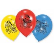 Riethmuller Ballonnen Piraten 6 stuks 23 cm