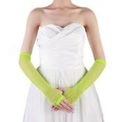 Joni's Winkel Vingerloze handschoen net groen Lang