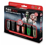 PaintGlow PaintGlow Blood & Glow Horror paint kit