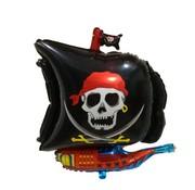 Joni's Winkel Folieballon Piraten boot zwart 45x65 cm