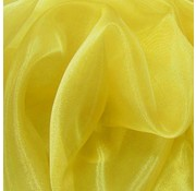 Organza/Tule 48x500 cm geel