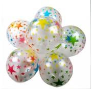 Joni's Winkel ballonnen stars transparant/multi 8 stuks