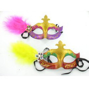 PartyXplosion Gezichtsmasker met veer