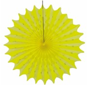 Folat Honeycomb waaier Fluor geel 45 cm