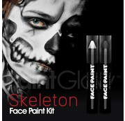 PaintGlow PaintGlow DuoPack Skeleton Paint stick Zwart+Wit