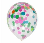 Ballonnen Confetti 6 stuks 27 cm