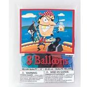 UNIQUE Ballonnen Gold teeth 8 stuks 30 cm