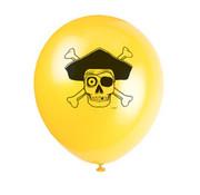 UNIQUE Ballonnen Pirate seas 8 stuks 32 cm