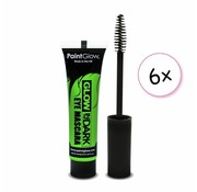 PaintGlow PaintGlow Glow in the dark Mascara Groen 6 stuks