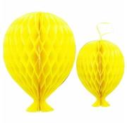Honeycomb Ballon Geel 2 stuks