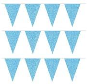 Folat Vlaggenlijn Blauwe glitters 6 meter
