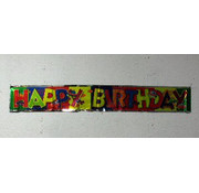 Happy Birthday banner Zwart