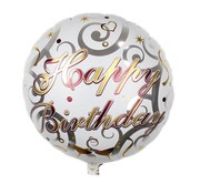 Folieballon Happy birthday Champagne 45 cm