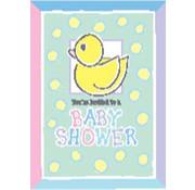 Uitnodiging Baby shower Eend