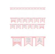 letterslinger Baby Shower roze