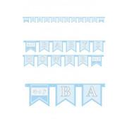 letterslinger Baby Shower blauw