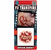 Tinsley Transfers Tinsley Horror 3D Tattoo Kaak ( Cheek Decay )