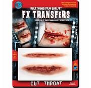 Tinsley Transfers Tinsley Horror 3D Tattoo Snijwond ( Cut Throat )