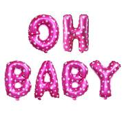 Ballonnen set Oh Baby Roze +/- 40 cm