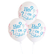 Ballonnen He or She 8 stuks 30 cm