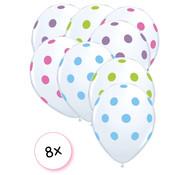 Joni's Winkel Ballonnen dots transparant Multi