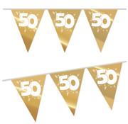 Haza Original Vlaggenlijn 50 goud/wit 4 meter