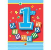 UNIQUE Uitnodigingen 1st birthday 12 stuks