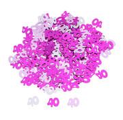 Joni's Winkel Confetti 40 jaar Roze/Zilver 14 Gr