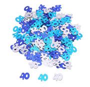 Joni's Winkel Confetti 40 jaar Blauw/Zilver 14 Gr