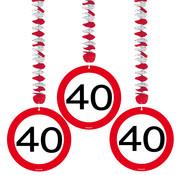 Folat Rotorspiraal 40 jaar Verkeersbord 3 stuks