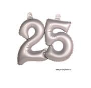 Folat Opblaascijfer 25 Zilver