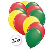 Joni's Winkel Ballonnen Geel, Rood & Groen 30 stuks 27 cm