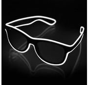 Joni's Glow-Shop El wire zonnebril Wit - El wire sunglasses White