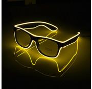 Joni's Glow-Shop El wire bril geel - El wire glasses yellow
