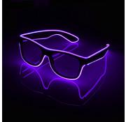 Joni's Glow-Shop El wire bril paars - El wire glasses purple