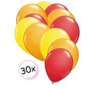 Joni's Winkel Ballonnen Geel, Oranje & Rood 30 stuks 27 cm